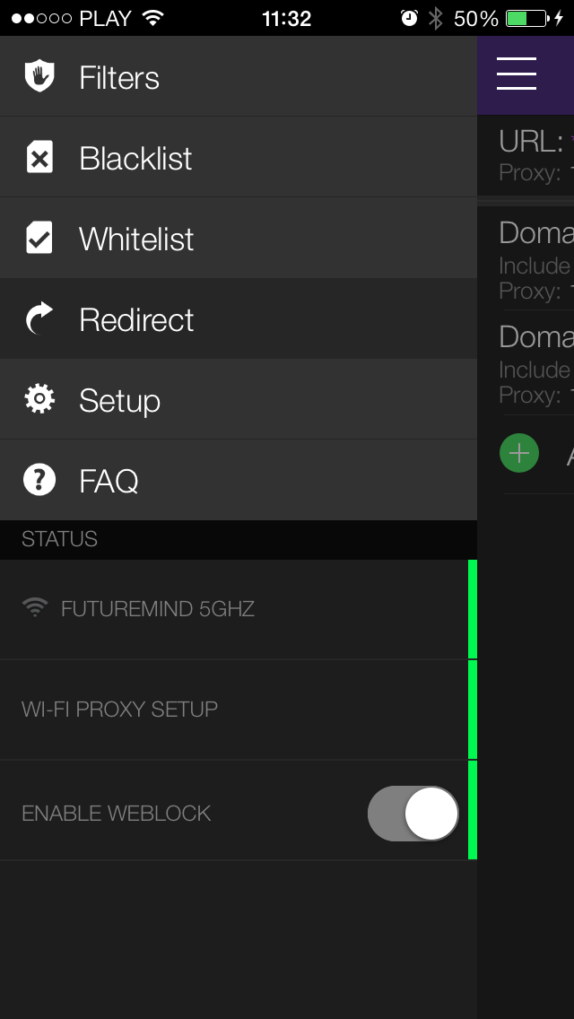 Weblock - ad blocking and proxy management for iOS and