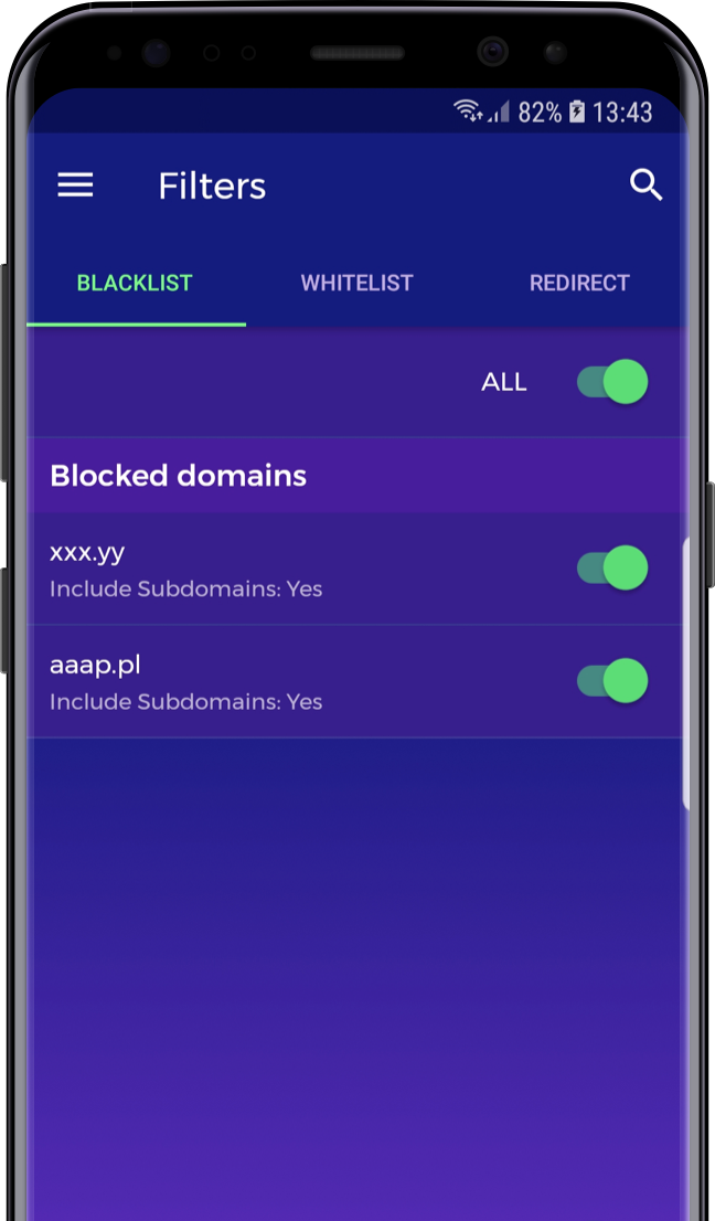 Weblock - ad blocking and proxy management for iOS and Android